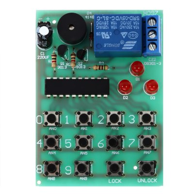 LDTR - A0003 Electronic Password Lock Module for ArduinoOther Accessories<br>LDTR - A0003 Electronic Password Lock Module for Arduino<br><br>Color: Multi-color<br>Mainly Compatible with: Arduino<br>Material: FR4<br>Model: LDTR - A0003<br>Package Contents: 1 x LDTR - A0003 Electronic Password Lock Module, 1 x English Manual<br>Package Size(L x W x H): 9.00 x 9.00 x 3.00 cm / 3.54 x 3.54 x 1.18 inches<br>Package weight: 0.040 kg<br>Product Size(L x W x H): 7.00 x 6.00 x 2.00 cm / 2.76 x 2.36 x 0.79 inches<br>Product weight: 0.032 kg
