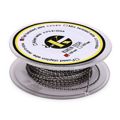 Kuken Tech Flat Twisted Resistance WireAccessories<br>Kuken Tech Flat Twisted Resistance Wire<br><br>Accessories type: Wicks/Wires<br>Available Color: Silver<br>Material: Kanthal<br>Package Contents: 1 x Kuken Tech Flat Twisted Resistance Wire ( 15 Feet )<br>Package size (L x W x H): 6.60 x 6.60 x 3.00 cm / 2.6 x 2.6 x 1.18 inches<br>Package weight: 0.035 kg<br>Product size (L x W x H): 5.60 x 5.60 x 2.00 cm / 2.2 x 2.2 x 0.79 inches<br>Product weight: 0.021 kg<br>Type: Electronic Cigarettes Accessories