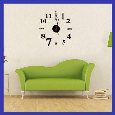 Fun Life Creative DIY Wall ClockWall Stickers<br>Fun Life Creative DIY Wall Clock<br><br>Package Contents: 1 x Clock, 1 x Packing of DIY Accessory<br>Package size (L x W x H): 16.00 x 10.00 x 5.00 cm / 6.3 x 3.94 x 1.97 inches<br>Package weight: 0.134 kg<br>Product size (L x W x H): 7.50 x 7.50 x 1.00 cm / 2.95 x 2.95 x 0.39 inches<br>Product weight: 0.032 kg<br>Style: Contemporary, Modern<br>Time Display: Analog<br>Type: Wall Clock