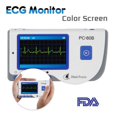 Heal Force Fast PC-80B ECG Detector Measuring Heart Cardiac Monitor