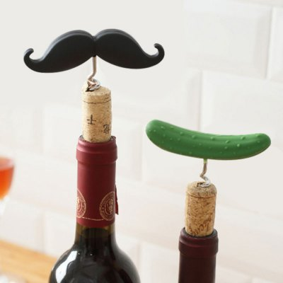 Beard Shaped Corkscrew Wine Bottle Opener