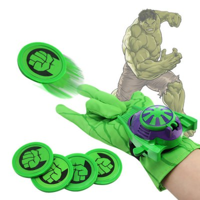 Cosplay Glove Launcher with Frisbee Flying Saucer Toy
