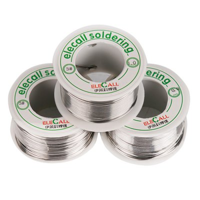 ELECALL 1mm Electric Tin Solder WireSoldering Supplies<br>ELECALL 1mm Electric Tin Solder Wire<br><br>Brand: ELECALL<br>Material: Tin<br>Package Contents: 1 x ELECALL 1mm Electric Tin Solder Wire<br>Package size (L x W x H): 4.50 x 4.50 x 2.70 cm / 1.77 x 1.77 x 1.06 inches<br>Package weight: 0.135 kg<br>Product size (L x W x H): 4.00 x 4.00 x 2.00 cm / 1.57 x 1.57 x 0.79 inches<br>Product weight: 0.075 kg<br>Special function: Soldering