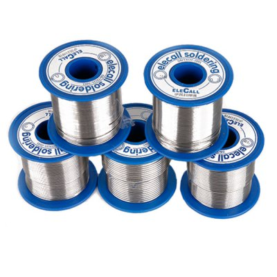 ELECALL Electric 1mm Tin Solder WireSoldering Supplies<br>ELECALL Electric 1mm Tin Solder Wire<br><br>Brand: ELECALL<br>Material: Tin<br>Package Contents: 1 x ELECALL Electric Tin Solder Wire<br>Package size (L x W x H): 6.50 x 6.50 x 5.50 cm / 2.56 x 2.56 x 2.17 inches<br>Package weight: 0.5100 kg<br>Product size (L x W x H): 5.50 x 5.50 x 5.00 cm / 2.17 x 2.17 x 1.97 inches<br>Special function: Soldering<br>Type: Other Accessories