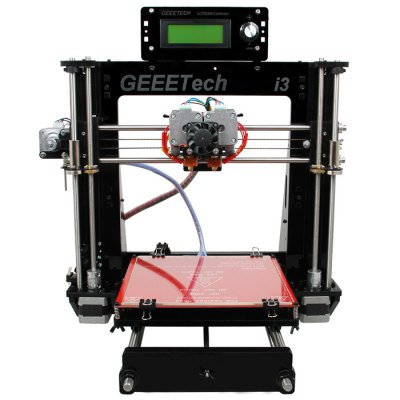 Geeetech I3 Pro C 3D Printer Kit3D Printers, 3D Printer Kits<br>Geeetech I3 Pro C 3D Printer Kit<br><br>Brand: Geeetech<br>File format: G-code, STL<br>Frame material: Acrylic plate<br>Host computer software: Printrun,Repetier-Host<br>Layer thickness: 0.1-0.3mm<br>LCD Screen: Yes<br>Material diameter: 1.75mm<br>Memory card offline print: SD card<br>Model: Pro C<br>Nozzle diameter: 0.3mm<br>Nozzle quantity: Single<br>Package size: 52.00 x 42.00 x 23.00 cm / 20.47 x 16.54 x 9.06 inches<br>Package weight: 11.0000 kg<br>Packing Contents: 1 x Geeetech I3 Pro C 3D Desktop Printer Kit<br>Packing Type: unassembled packing<br>Product forming size: 200 x 200 x 180mm<br>Product size: 45.00 x 44.00 x 44.00 cm / 17.72 x 17.32 x 17.32 inches<br>Product weight: 8.5000 kg<br>Supporting material: ABS, Wood, Flexible PLA, Nylon, PLA<br>Voltage: 12V