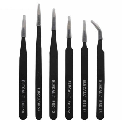 ELECALL ESD - 12 Anti-static Stainless TweezersTweezers<br>ELECALL ESD - 12 Anti-static Stainless Tweezers<br><br>Brand: ELECALL<br>Material: High Carbon Steel<br>Model: ESD - 12<br>Optional Color: Black<br>Package Contents: 1 x ELECALL ESD - 12 Anti-static Stainless Tweezers<br>Package size (L x W x H): 14.00 x 1.50 x 1.50 cm / 5.51 x 0.59 x 0.59 inches<br>Package weight: 0.081 kg<br>Packing Type: Single Piece<br>Product size (L x W x H): 13.60 x 1.00 x 1.00 cm / 5.35 x 0.39 x 0.39 inches<br>Product weight: 0.021 kg<br>Special function: Repair<br>Type: Fine Tip
