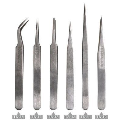 ELECALL TS - 15 Stainless Anti-static Tweezers ToolTweezers<br>ELECALL TS - 15 Stainless Anti-static Tweezers Tool<br><br>Brand: ELECALL<br>Material: High Carbon Steel<br>Model: TS - 15<br>Optional Color: Silver<br>Package Contents: 1 x ELECALL TS - 15 Stainless Anti-static Tweezers Tool<br>Package size (L x W x H): 13.00 x 1.44 x 1.44 cm / 5.12 x 0.57 x 0.57 inches<br>Package weight: 0.077 kg<br>Packing Type: Single Piece<br>Product size (L x W x H): 12.10 x 1.04 x 1.04 cm / 4.76 x 0.41 x 0.41 inches<br>Product weight: 0.020 kg<br>Special function: Installation<br>Type: Elbow