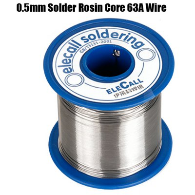 ELECALL Tin Lead Melt Rosin Core Solder 63A 0.5mm Wire