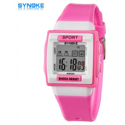 Synoke Christmas Gift LED Sports Watch Week Date Alarm Stopwatch