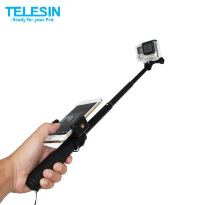TELESIN Stretchable Monopod with Protective Frame Cage for Polaroid Cube / Cube+