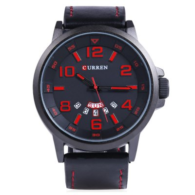 CURREN 8240 Fashion Date Day Function Men Quartz WatchMens Watches<br>CURREN 8240 Fashion Date Day Function Men Quartz Watch<br><br>Brand: Curren<br>Watches categories: Male table<br>Watch style: Fashion<br>Available color: Black,Red,White,Yellow<br>Movement type: Quartz watch<br>Shape of the dial: Round<br>Display type: Analog<br>Case material: Stainless Steel<br>Band material: Leather<br>Clasp type: Pin buckle<br>Special features: Date,Day<br>Water resistance : Life water resistant<br>Dial size: 5 x 5 x 1.5 cm / 1.97 x 1.97 x 0.59 inches<br>Band size: 28.5 x 2.4 cm / 11.22 x 0.94 inches<br>Wearable length: 19 - 22.2 cm / 7.5 - 8.74 inches<br>Product weight: 0.075 kg<br>Package weight: 0.110 kg<br>Product size (L x W x H): 28.50 x 5.00 x 1.50 cm / 11.22 x 1.97 x 0.59 inches<br>Package size (L x W x H): 29.50 x 6.00 x 2.50 cm / 11.61 x 2.36 x 0.98 inches<br>Package Contents: 1 x CURREN 8240 Fashion Men Quartz Watch