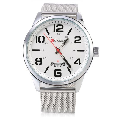 CURREN 8236 Fashion Male Quartz WatchMens Watches<br>CURREN 8236 Fashion Male Quartz Watch<br><br>Brand: Curren<br>Watches categories: Male table<br>Watch style: Fashion<br>Available color: Black,Blue,Gold,Silver,White<br>Movement type: Quartz watch<br>Shape of the dial: Round<br>Display type: Analog<br>Case material: Stainless Steel<br>Band material: Steel<br>Clasp type: Hook buckle<br>Special features: Date<br>Water resistance : Life water resistant<br>Dial size: 4.8 x 4.8 x 1.2 cm / 1.89 x 1.89 x 0.47 inches<br>Band size: 24.5 x 2.2 cm / 9.65 x 0.87 inches<br>Product weight: 0.084 kg<br>Package weight: 0.118 kg<br>Product size (L x W x H): 24.50 x 4.80 x 1.20 cm / 9.65 x 1.89 x 0.47 inches<br>Package size (L x W x H): 25.50 x 5.80 x 2.20 cm / 10.04 x 2.28 x 0.87 inches<br>Package Contents: 1 x CURREN 8236 Fashion Male Quartz Watch, 1 x Package Box