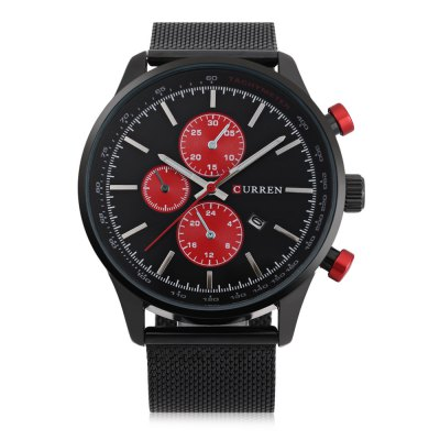 CURREN 8227 Business Decorative Sub-dial Men Quartz WatchMens Watches<br>CURREN 8227 Business Decorative Sub-dial Men Quartz Watch<br><br>Brand: Curren<br>Watches categories: Male table<br>Watch style: Business<br>Watch color: Black, Silver, Red, Silver + Black, Black + Gold, White + Gold<br>Movement type: Quartz watch<br>Shape of the dial: Round<br>Display type: Analog<br>Case material: Stainless Steel<br>Band material: Steel<br>Clasp type: Hook buckle<br>Special features: Date,Decorative sub-dial<br>Water resistance : Life water resistant<br>Dial size: 4.7 x 4.7 x 1.1 cm / 1.85 x 1.85 x 0.43 inches<br>Band size: 24.2 x 2.2 cm / 9.53 x 0.87 inches<br>Product weight: 0.082 kg<br>Package weight: 0.116 kg<br>Product size (L x W x H): 24.20 x 4.70 x 1.10 cm / 9.53 x 1.85 x 0.43 inches<br>Package size (L x W x H): 25.20 x 5.70 x 2.10 cm / 9.92 x 2.24 x 0.83 inches<br>Package Contents: 1 x CURREN 8227 Business Men Quartz Watch, 1 x Chinese and English User Manual