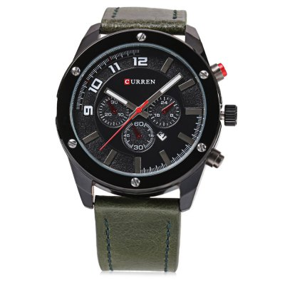CURREN 8204 Men Quartz WatchMens Watches<br>CURREN 8204 Men Quartz Watch<br><br>Band material: Leather<br>Brand: Curren<br>Case material: Stainless Steel<br>Clasp type: Pin buckle<br>Dial size: 4.5 x 4.5 x 1.2 cm /<br>Display type: Analog<br>Movement type: Quartz watch<br>Package Contents: 1 x CURREN 8204 Men Quartz Watch<br>Package size (L x W x H): 27.00 x 5.50 x 2.20 cm / 10.63 x 2.17 x 0.87 inches<br>Package weight: 0.122 kg<br>Product size (L x W x H): 26.00 x 4.50 x 1.20 cm / 10.24 x 1.77 x 0.47 inches<br>Product weight: 0.085 kg<br>Shape of the dial: Round<br>Watch style: Fashion<br>Watches categories: Male table<br>Wearable length: 18.2 - 23.5 cm /