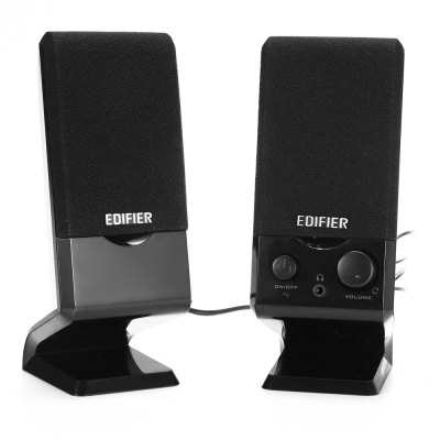 EDIFIER R10U Double-horn Multimedia Wired SpeakerSpeakers<br>EDIFIER R10U Double-horn Multimedia Wired Speaker<br><br>Brands: EDIFIER<br>Model: R10U<br>Design: Multifunctional<br>Compatible with: iPhone,iPod,Laptop,Mobile phone,MP3,MP4,MP5,PC,Tablet PC<br>Supports: Volume Control<br>Connection: Wired<br>Interface: 3.5mm Audio,USB2.0<br>Audio Source: Electronic Products with 3.5mm Plug,Electronic Products with USB port<br>Material: ABS,Electronic Components<br>Color: Black<br>Powlev: CLASS II<br>S/N: 80dB<br>Support O.S: Linux,Mac OS,Windows 2000,Windows 7,Windows 98,Windows 98SE,Windows ME,Windows Vista,Windows XP<br>Product weight: 0.450 kg<br>Package weight: 0.530 kg<br>Product size (L x W x H): 7.00 x 5.00 x 15.00 cm / 2.76 x 1.97 x 5.91 inches<br>Package size (L x W x H): 11.00 x 7.50 x 21.00 cm / 4.33 x 2.95 x 8.27 inches<br>Package Contents: 2 x EDIFIER R10U Wired Speaker, 1 x Chinese Manual