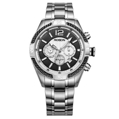 ROSDN Fashion Men Sapphire Mirror Sports Quartz WatchMens Watches<br>ROSDN Fashion Men Sapphire Mirror Sports Quartz Watch<br><br>Watches categories: Male table<br>Watch style: Fashion<br>Available color: Black,Gold,Rose Gold,Silver<br>Movement type: Quartz watch<br>Shape of the dial: Round<br>Display type: Analog<br>Case material: Stainless Steel<br>Band material: Stainless Steel<br>Clasp type: Folding clasp with safety<br>Special features: Luminous<br>Dial size: 4.4 x 4.4 x 1.3 cm / 1.73 x 1.73 x 0.51 inches<br>Band size: 24.5 x 2.2 cm / 9.65 x 0.87 inches<br>Product weight: 0.187 kg<br>Package weight: 0.247 kg<br>Product size (L x W x H): 24.50 x 4.40 x 1.30 cm / 9.65 x 1.73 x 0.51 inches<br>Package size (L x W x H): 28.00 x 8.00 x 3.50 cm / 11.02 x 3.15 x 1.38 inches<br>Package Contents: 1 x ROSDN Fashion Men Sports Quartz Watch