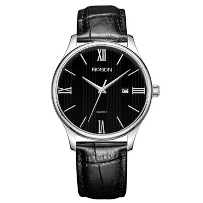 ROSDN Classic Business Style Ultra-thin Dial Men Quartz Watch