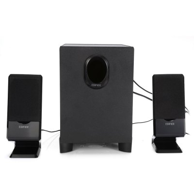 EDIFIER R101V Multimedia PC SpeakersSpeakers<br>EDIFIER R101V Multimedia PC Speakers<br><br>Audio Source: Electronic Products with 3.5mm Plug<br>Brands: EDIFIER<br>Color: Black<br>Compatible with: TV, Computer<br>Connection: Wired<br>Design: Portable, Large<br>Features: Surround Sound<br>Interface: 3.5mm Audio<br>Material: ABS, Electronic Components<br>Model: R101V<br>Package Contents: 3 x EDIFIER R101V Wired Speaker, 1 x Chinese Manual<br>Package size (L x W x H): 26.00 x 21.00 x 30.00 cm / 10.24 x 8.27 x 11.81 inches<br>Package weight: 2.624 kg<br>Product weight: 2.188 kg<br>S/N: 85dB<br>Sound channel: 2.1<br>Speaker Impedance: 4 ohm<br>Support O.S: Windows XP, Windows Vista, Windows ME, Windows 98SE, Windows 98, Windows 7, Windows 2000, Mac OS, Linux<br>Supports: Volume Control<br>Usage: House