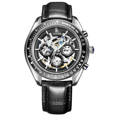 IK COLOURING Business Style Automatic Mechanical Men WatchMens Watches<br>IK COLOURING Business Style Automatic Mechanical Men Watch<br><br>Available Color: Black,White<br>Band material: Genuine Leather<br>Band size: 26 x 2 cm / 10.24 x 0.79 inches<br>Brand: IK coloring<br>Case material: Stainless Steel<br>Clasp type: Pin buckle<br>Dial size: 4 x 4 x 1.43 cm / 1.57 x 1.57 x 0.56 inches<br>Display type: Analog<br>Movement type: Automatic mechanical watch<br>Package Contents: 1 x IK COLOURING Business Style Automatic Mechanical Men Watch<br>Package size (L x W x H): 28.00 x 8.00 x 3.50 cm / 11.02 x 3.15 x 1.38 inches<br>Package weight: 0.140 kg<br>Product size (L x W x H): 26.00 x 4.00 x 1.43 cm / 10.24 x 1.57 x 0.56 inches<br>Product weight: 0.080 kg<br>Shape of the dial: Round<br>Special features: Date, Day, Working sub-dial, Luminous<br>Watch style: Business<br>Watches categories: Male table<br>Water resistance : 50 meters