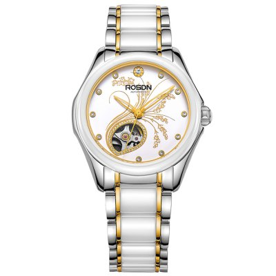 ROSDN Fashion Women Automatic Mechanical WatchWomens Watches<br>ROSDN Fashion Women Automatic Mechanical Watch<br><br>Available Color: Gold,Rose Gold,Silver<br>Band material: Ceramic<br>Band size: 22 x 1.5 cm / 8.66 x 0.59 inches<br>Case material: Stainless Steel<br>Clasp type: Butterfly clasp<br>Dial size: 3.2 x 3.2 x 1.2 cm / 1.26 x 1.26 x 0.47 inches<br>Display type: Analog<br>Movement type: Automatic mechanical watch<br>Package Contents: 1 x ROSDN Fashion Women Automatic Mechanical Watch<br>Package size (L x W x H): 28.00 x 8.00 x 3.50 cm / 11.02 x 3.15 x 1.38 inches<br>Package weight: 0.164 kg<br>Product size (L x W x H): 22.00 x 3.20 x 1.20 cm / 8.66 x 1.26 x 0.47 inches<br>Product weight: 0.104 kg<br>Shape of the dial: Round<br>Watch mirror: Sapphire<br>Watch style: Fashion<br>Watches categories: Female table<br>Water resistance : 50 meters
