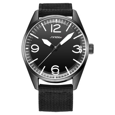 SINOBI Fashion Contrast Color Pointer Men Quartz WatchMens Watches<br>SINOBI Fashion Contrast Color Pointer Men Quartz Watch<br><br>Band material: Canvas<br>Band size: 25.5 x 2.13 cm / 10.04 x 0.84 inches<br>Brand: Sinobi<br>Case material: Alloy<br>Clasp type: Pin buckle<br>Dial size: 4.32 x 4.32 x 1.35 cm / 1.7 x 1.7 x 0.53 inches<br>Display type: Analog<br>Movement type: Quartz watch<br>Package Contents: 1 x SINOBI Fashion Casual Men Quartz Watch<br>Package size (L x W x H): 28.00 x 8.00 x 3.50 cm / 11.02 x 3.15 x 1.38 inches<br>Package weight: 0.116 kg<br>Product size (L x W x H): 25.50 x 4.32 x 1.35 cm / 10.04 x 1.7 x 0.53 inches<br>Product weight: 0.056 kg<br>Shape of the dial: Round<br>Watch color: Black, Green, Black + Silver, Green + Silver<br>Watch style: Casual<br>Watches categories: Male table<br>Water resistance : 30 meters