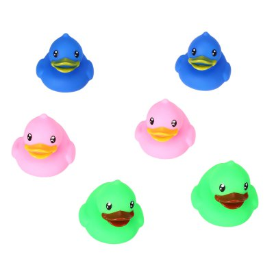 6pcs Soft Duck Float Bath Shower Squeeze Toy for Baby