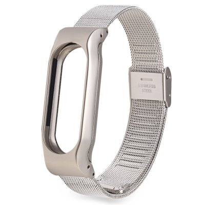 D.MRX Metal Case Steel Watch Strap for Xiaomi Miband 2Smart Watch Accessories<br>D.MRX Metal Case Steel Watch Strap for Xiaomi Miband 2<br><br>Band Length: 9.96 inch<br>Band Material Type: Stainless Steel<br>Band Width: 18mm<br>Clasp type: Hook Buckle<br>Product weight: 0.037 kg<br>Package weight: 0.104 kg<br>Product Size(L x W x H): 25.30 x 1.80 x 1.30 cm / 9.96 x 0.71 x 0.51 inches<br>Package Size(L x W x H): 26.30 x 2.80 x 2.30 cm / 10.35 x 1.1 x 0.91 inches<br>Package Contents: 1 x D.MRX Watch Strap for Xiaomi Miband 2