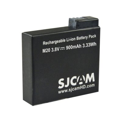 SJCAM Rechargeable 900mAh Li-ion Battery for M20Action Cameras &amp; Sport DV Accessories<br>SJCAM Rechargeable 900mAh Li-ion Battery for M20<br><br>Accessory type: Battery<br>Apply to Brand: SJCAM<br>Compatible with: SJCAM M20<br>Package Contents: 1 x Extra Battery<br>Package size (L x W x H): 14.50 x 11.50 x 1.50 cm / 5.71 x 4.53 x 0.59 inches<br>Package weight: 0.059 kg<br>Product size (L x W x H): 3.40 x 3.30 x 0.90 cm / 1.34 x 1.3 x 0.35 inches<br>Product weight: 0.014 kg