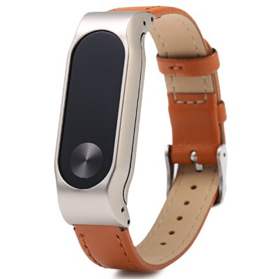 D.MRX Metal Case Steel Watch Strap for Xiaomi Miband 2