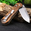 best GANZO G7452 - WD1 Brown Folding Knife