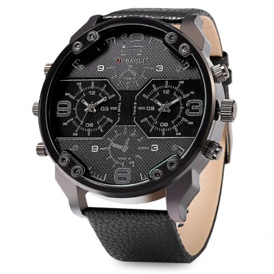 JUBAOLI 1119 Casual Dual Movements Men Quartz Watch