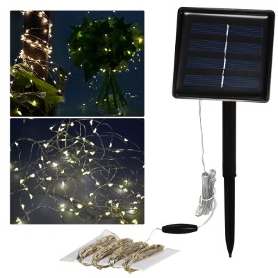 BSV - SL200T 22M 200 LEDs Solar Rechargeable LED String Starry Lights