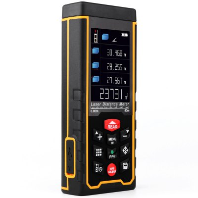 RZ - AS80 Handheld Laser Distance MeterLaser Rangefinder, Electronic Distance Meter<br>RZ - AS80 Handheld Laser Distance Meter<br><br>Area Measurement: Yes<br>Battery Current: 1000mA<br>Battery Type: AAA Ni-MH Battery<br>Battery Voltage: 1.2V<br>Color: Black<br>Continuous Measurement: Yes<br>Detection Range (Meter): 0.05 - 80<br>Digital Level: Yes<br>Measurement Accuracy: Plus or Minus 2mm<br>Measuring Unit: Foot,inch,Meter<br>Model: RZ - AS80<br>Package Contents: 1 x RZ - AS80 Handheld Laser Distance Meter, 1 x Portable Pouch, 1 x Hanging Rope, 1 x USB Connector, 3 x 1.2V AAA Ni-MH Battery, 1 x English User Manual<br>Package size (L x W x H): 18.00 x 13.50 x 6.50 cm / 7.09 x 5.31 x 2.56 inches<br>Package weight: 0.345 kg<br>Product size (L x W x H): 12.50 x 5.20 x 2.20 cm / 4.92 x 2.05 x 0.87 inches<br>Product weight: 0.123 kg<br>Pythagoras Measurement: Yes<br>Staking-out Measurement: Yes<br>Volume Measurement: Yes