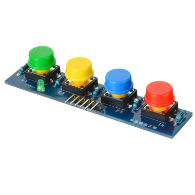 LDTR - Key4 4 Key Touch Button ModuleOther Accessories<br>LDTR - Key4 4 Key Touch Button Module<br><br>Color: Colormix<br>Material: FR4<br>Model: LDTR - Key4<br>Package Contents: 1 x Touch Button Module<br>Package Size(L x W x H): 10.00 x 7.00 x 3.00 cm / 3.94 x 2.76 x 1.18 inches<br>Package weight: 0.040 kg<br>Product Size(L x W x H): 8.60 x 2.40 x 1.60 cm / 3.39 x 0.94 x 0.63 inches<br>Product weight: 0.013 kg