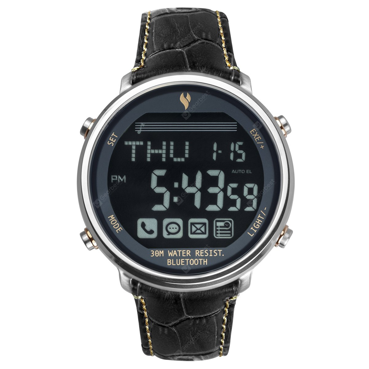 YOUNGS YT1600401L Bluetooth 4.0 SOS Signal Smartwatch