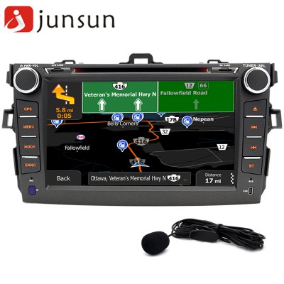 Junsun R168 - TYT - MAP Android 4.4 Car Media DVD Player with Europe Map for Toyota Corolla (2007 - 2011)