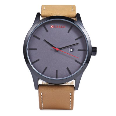 CURREN 8214 Casual Simple Nail Dial Men Watch