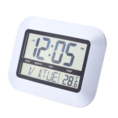 TS - H128Y Electronic Wall Alarm Clock Thermometer