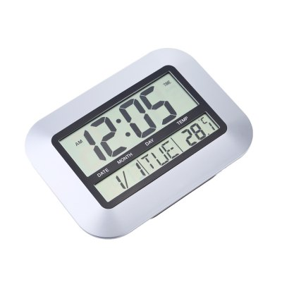 TS - H128Y Electronic Wall Alarm Clock Temperature MeasurementOther Consumer Electronics<br>TS - H128Y Electronic Wall Alarm Clock Temperature Measurement<br><br>Model: TS - H128Y<br>Feature: °C/°F display selection<br>Type: Indoor Thermometer<br>Product weight: 0.311 kg<br>Package weight: 0.475 kg<br>Product size (L x W x H): 25.00 x 18.50 x 2.30 cm / 9.84 x 7.28 x 0.91 inches<br>Package size (L x W x H): 26.00 x 23.00 x 3.50 cm / 10.24 x 9.06 x 1.38 inches<br>Package Contents: 1 x Digital Clock, 1 x English User Manual
