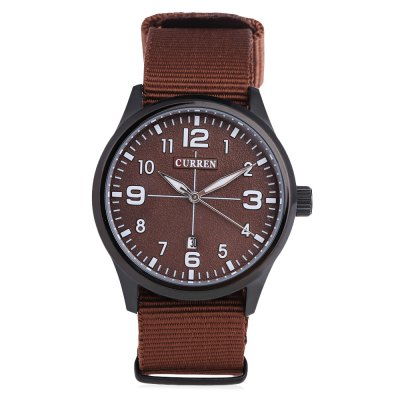 CURREN 8195 Casual Men Quartz WatchMens Watches<br>CURREN 8195 Casual Men Quartz Watch<br><br>Brand: Curren<br>Watches categories: Male table<br>Watch style: Casual<br>Available color: Black,Blue,Brown,White<br>Movement type: Quartz watch<br>Shape of the dial: Round<br>Display type: Analog<br>Case material: Stainless Steel<br>Band material: Canvas<br>Clasp type: Pin buckle<br>Water resistance : Life water resistant<br>Dial size: 4.7 x 4.7 x 1.5 cm / 1.85 x 1.85 x 0.59 inches<br>Band size: 27 x 2.2 cm / 10.63 x 0.87 inches<br>Wearable length: 18 - 24 cm / 7.09 - 9.45 inches<br>Product weight: 0.059 kg<br>Package weight: 0.093 kg<br>Product size (L x W x H): 27.00 x 4.70 x 1.50 cm / 10.63 x 1.85 x 0.59 inches<br>Package size (L x W x H): 28.00 x 5.70 x 2.50 cm / 11.02 x 2.24 x 0.98 inches<br>Package Contents: 1 x CURREN 8195 Casual Men Quartz Watch