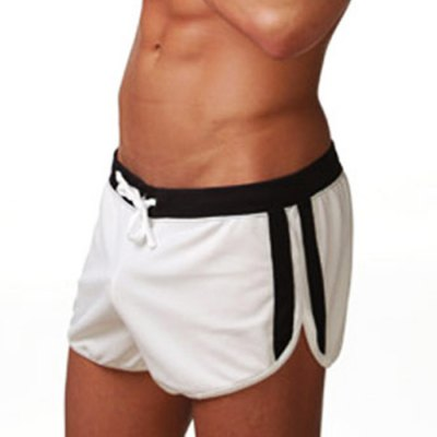 Men Lace-up U Convex Pouch Sports Shorts Casual Home Boxers