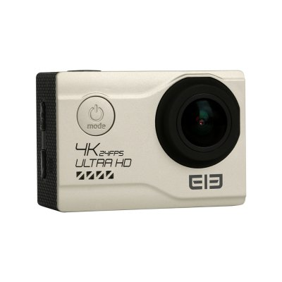 Elephone EleCam Explorer Elite 4K Action CameraAction Cameras<br>Elephone EleCam Explorer Elite 4K Action Camera<br><br>Brand Name: Elephone EleCam<br>Brand: Elephone<br>Model: Explorer Elite<br>Type: Sports Camera<br>Type of Camera: 4K<br>Chipset Name: Novatek<br>Chipset: Novatek 96660<br>Max External Card Supported: TF 64G (not included)<br>Screen size: 2.0inch<br>Screen type: TFT<br>Screen resolution: 960 x 240<br>Battery Type: External<br>Battery Capacity (mAh): 1050mAh<br>Power Supply: 5V 1A<br>Charge way: AC adapter,USB charge by PC<br>Working Time: 75mins (1080P)<br>Standby time: 100H<br>Charging time: 2H<br>Wide Angle: 170 degree wide angle<br>Lens Diameter: F =2.0mm<br>Video format: MP4<br>Video Resolution: 1080P (1920 x 1080),2K(2560 x 1440)30fps,4K (3840 x 2160),720P (120fps)<br>Video Frame Rate: 120fps,30FPS<br>Video Output : HDMI<br>Image Format : JPEG<br>Audio System: Built-in microphone/speaker (AAC)<br>Exposure Compensation: +0.3,+0.5,+1,+1.5,+2,-0.5,-1,-1.5,-2,0<br>White Balance Mode: Auto<br>Microphone: Built-in<br>WIFI: Yes<br>WiFi Function: Image Transmission,Remote Control<br>WiFi Distance : 50M<br>Waterproof: Yes<br>Waterproof Rating : 30M<br>Night vision : No<br>Delay Shutdown : Yes<br>Time Stamp: Yes<br>Camera Timer: Yes<br>Time lapse: Yes<br>Auto Focusing: Yes<br>Anti-shake: Yes<br>Aerial Photography: Yes<br>Interface Type: Micro USB,TV-Out,USB 2.0<br>Language: English,French,German,Italian,Portuguese,Russian,Simplified Chinese,Spanish<br>Product weight: 0.055 kg<br>Package weight: 0.725 kg<br>Product size (L x W x H): 5.92 x 4.10 x 2.98 cm / 2.33 x 1.61 x 1.17 inches<br>Package size (L x W x H): 24.50 x 11.00 x 8.30 cm / 9.65 x 4.33 x 3.27 inches<br>Package Contents: 1 x Action Camera, 1 x Waterproof Cover, 1 x Adhesive Tape, 1 x Cleaning Cloth, 1 x Bandage, 1 x Bicycle Stand, 1 x Accessory Seat (1), 1 x Accessory Seat (2), 1 x Steel Rope, 1 x Ribbon, 1 x Fixing B