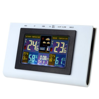 TS - H127G Digital Alarm Clock Weather StationOther Consumer Electronics<br>TS - H127G Digital Alarm Clock Weather Station<br><br>Model: TS - H127G<br>Feature: °C/°F display selection<br>Type: Indoor Thermometer,Outdoor Thermometer<br>Product weight: 0.236 kg<br>Package weight: 0.428 kg<br>Product size (L x W x H): 20.00 x 12.00 x 2.50 cm / 7.87 x 4.72 x 0.98 inches<br>Package size (L x W x H): 26.50 x 13.00 x 3.50 cm / 10.43 x 5.12 x 1.38 inches<br>Package Contents: 1 x Remote Sensor, 1 x Receiver, 1 x English User Manual