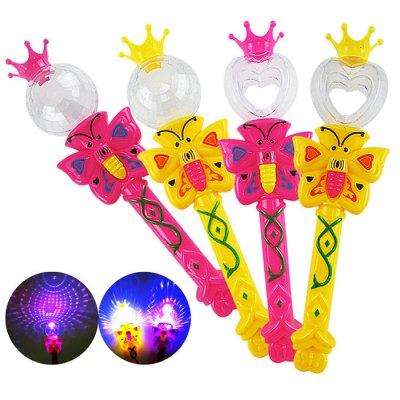 Magic Wand and Crown Design Flashing Toy - 1pc