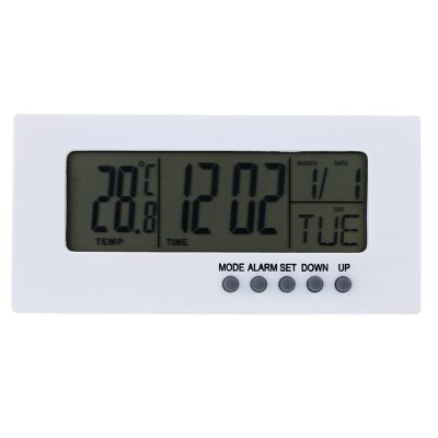 TS - H205 Mini Alarm Clock Thermometer HygrometerOther Consumer Electronics<br>TS - H205 Mini Alarm Clock Thermometer Hygrometer<br><br>Feature: °C/°F display selection<br>Model: TS - H205<br>Package Contents: 1 x Mini Clock, 1 x English User Manual<br>Package size (L x W x H): 11.00 x 6.50 x 3.50 cm / 4.33 x 2.56 x 1.38 inches<br>Package weight: 0.098 kg<br>Product size (L x W x H): 10.00 x 5.00 x 2.50 cm / 3.94 x 1.97 x 0.98 inches<br>Product weight: 0.051 kg<br>Type: Indoor Thermometer