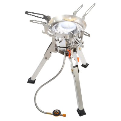 Fire - Maple Titan Gas StoveCamp Kitchen<br>Fire - Maple Titan Gas Stove<br><br>Brand: Fire Maple<br>Type: Stove<br>Color: Silver<br>Best Use: Camping,Hiking<br>Features: Compact size,Durable,Easy to use,Foldable,Portable,Ultralight,Windproof<br>Combustion Power: 4000W<br>Product weight: 1.134 kg<br>Package weight: 1.365 kg<br>Product Dimension: 17.10 x 17.10 x 19.10 cm / 6.73 x 6.73 x 7.52 inches<br>Package Dimension: 16.50 x 16.50 x 19.50 cm / 6.5 x 6.5 x 7.68 inches<br>Package Contents: 1  x Fire - Maple Gas Stove, 1 x Storage Bag