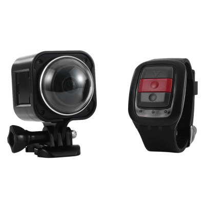 T360 4K Panorama Action Sport CameraAction Cameras<br>T360 4K Panorama Action Sport Camera<br><br>Model: T360<br>Type: Sports Camera<br>Chipset Name: Novatek<br>Chipset: Novatek 96660<br>Sensor: CMOS<br>Max External Card Supported: Micro SD 32G (not inluded)<br>Class Rating Requirements: Class 10 or Above<br>Screen size: 0.83 inch<br>Screen type: LCD<br>Screen resolution: 960 x 240<br>Battery Type: Built-in<br>Capacity: 1200mAh<br>Power Supply: 3.7V<br>Charge way: AC adapter,USB charge by PC<br>Working Time: 3.5h<br>Wide Angle: 220 degrees wide angle<br>Camera Pixel : 12MP<br>ISO: Auto,ISO100,ISO1600,ISO200,ISO400,ISO800<br>Video Resolution: 1080P(30fps),1080P(60fps),2K (30fps),4K (24fps)<br>Video Output : HDMI<br>Exposure Compensation: +0.5,+1,+1.5,+2,-0.5,-1,-1.5,-2,0<br>White Balance Mode: Auto,Cloudy,Daylight,Fluorescent,Underwater<br>Microphone: Built-in<br>WIFI: Yes<br>WiFi Function: Remote Control<br>WiFi Distance : 15m<br>Waterproof: Yes<br>Loop-cycle Recording : Yes<br>Loop-cycle Recording Time: 10min,5min<br>Night vision : No<br>Delay Shutdown : Yes<br>Camera Timer: No<br>Time lapse: No<br>Auto Focusing: No<br>Anti-shake: No<br>Aerial Photography: No<br>Product weight: 0.117 kg<br>Package weight: 0.602 kg<br>Product size (L x W x H): 4.50 x 4.50 x 5.80 cm / 1.77 x 1.77 x 2.28 inches<br>Package size (L x W x H): 10.50 x 10.50 x 23.50 cm / 4.13 x 4.13 x 9.25 inches<br>Package Contents: 1 x T360 Action Camera, 1 x Remote Control Watch, 1 x English User Manual, 1 x USB Cable, 2 x Case, 1 x Lens Cover, 1 x Quick Release Mount, 1 x Tripod Mount Adapter, 2 x Flat Mount, 1 x Connector, 2