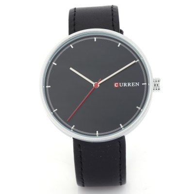CURREN 8223 Casual Big Dial Men Quartz WatchMens Watches<br>CURREN 8223 Casual Big Dial Men Quartz Watch<br><br>Band material: Leather<br>Band size: 24.5 x 2 cm / 9.65 x 0.79 inches<br>Brand: Curren<br>Case material: Stainless Steel<br>Clasp type: Pin buckle<br>Dial size: 4.8 x 4.8 x 1 cm / 1.89 x 1.89 x 0.39 inches<br>Display type: Analog<br>Movement type: Quartz watch<br>Package Contents: 1 x CURREN 8223 Casual Men Quartz Watch<br>Package size (L x W x H): 25.50 x 5.80 x 2.00 cm / 10.04 x 2.28 x 0.79 inches<br>Package weight: 0.086 kg<br>Product size (L x W x H): 24.50 x 4.80 x 1.00 cm / 9.65 x 1.89 x 0.39 inches<br>Product weight: 0.052 kg<br>Shape of the dial: Round<br>Watch color: Black, White, Deep Gray, Light Gray, Gold, Gold + Black, Silver + Black<br>Watch style: Casual<br>Watches categories: Male table<br>Water resistance : Life water resistant<br>Wearable length: 18 - 22.2 cm / 7.09 - 8.74 inches
