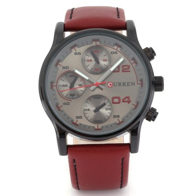 CURREN 8207 Casual Decorative Sub-dial Men Quartz WatchMens Watches<br>CURREN 8207 Casual Decorative Sub-dial Men Quartz Watch<br><br>Available Color: Black,Blue,Brown,Coffee,Gray,Green<br>Band material: Leather<br>Band size: 26 x 2.4 cm / 10.24 x 0.94 inches<br>Brand: Curren<br>Case material: Stainless Steel<br>Clasp type: Pin buckle<br>Dial size: 4.8 x 4.8 x 1.2 cm / 1.89 x 1.89 x 0.47 inches<br>Display type: Analog<br>Movement type: Quartz watch<br>Package Contents: 1 x CURREN 8207 Casual Quartz Watch<br>Package size (L x W x H): 27.00 x 5.80 x 2.20 cm / 10.63 x 2.28 x 0.87 inches<br>Package weight: 0.096 kg<br>Product size (L x W x H): 26.00 x 4.80 x 1.20 cm / 10.24 x 1.89 x 0.47 inches<br>Product weight: 0.062 kg<br>Shape of the dial: Round<br>Special features: Decorative sub-dial<br>Watch style: Casual<br>Watches categories: Male table<br>Water resistance : Life water resistant<br>Wearable length: 18.5 - 24 cm / 7.28 - 9.45 inches