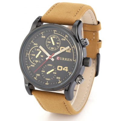 CURREN 8207 Casual Decorative Sub-dial Men Quartz Watch